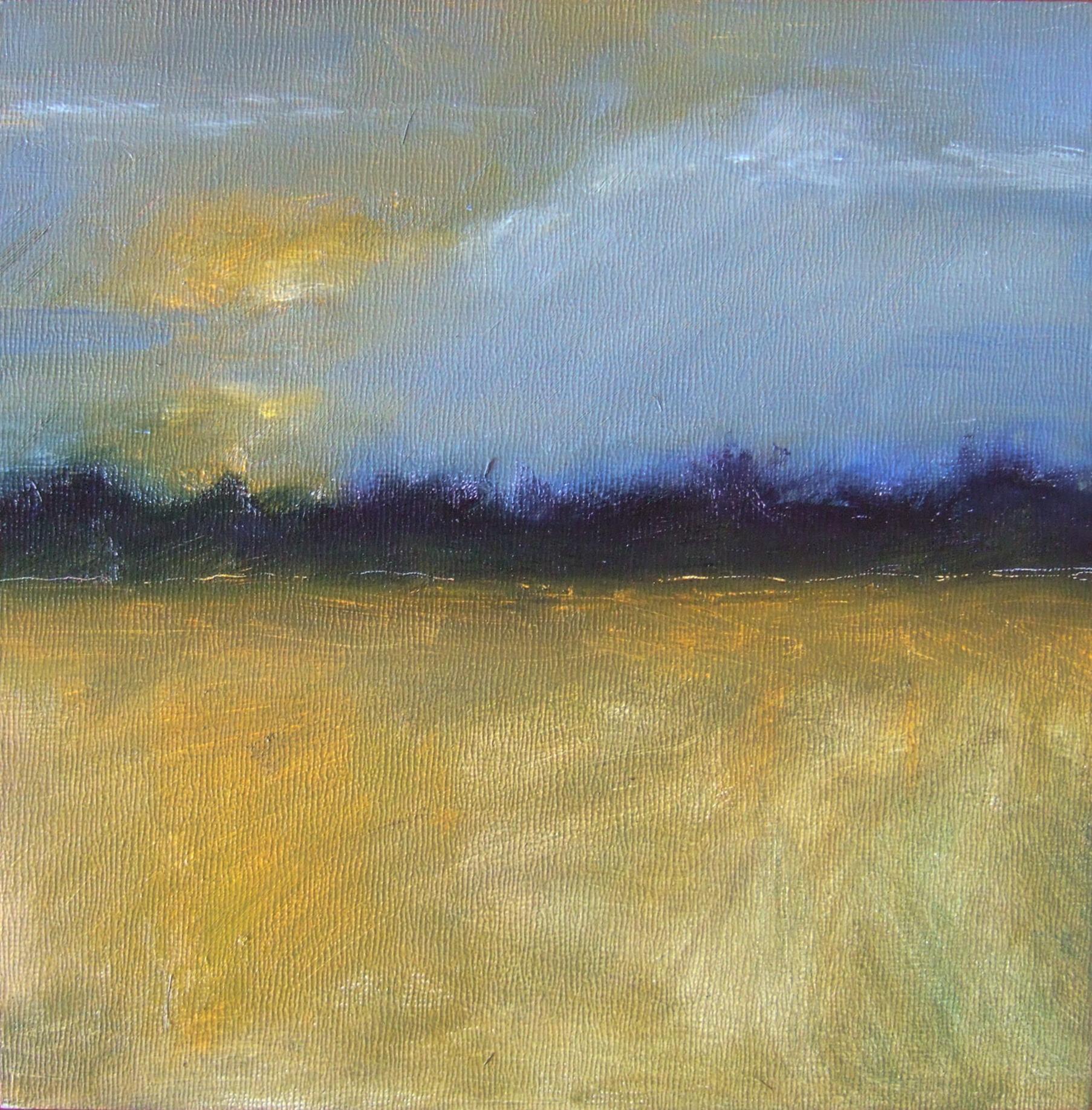 "Imaginary Landscape 8 x 8"" Oil on Board"