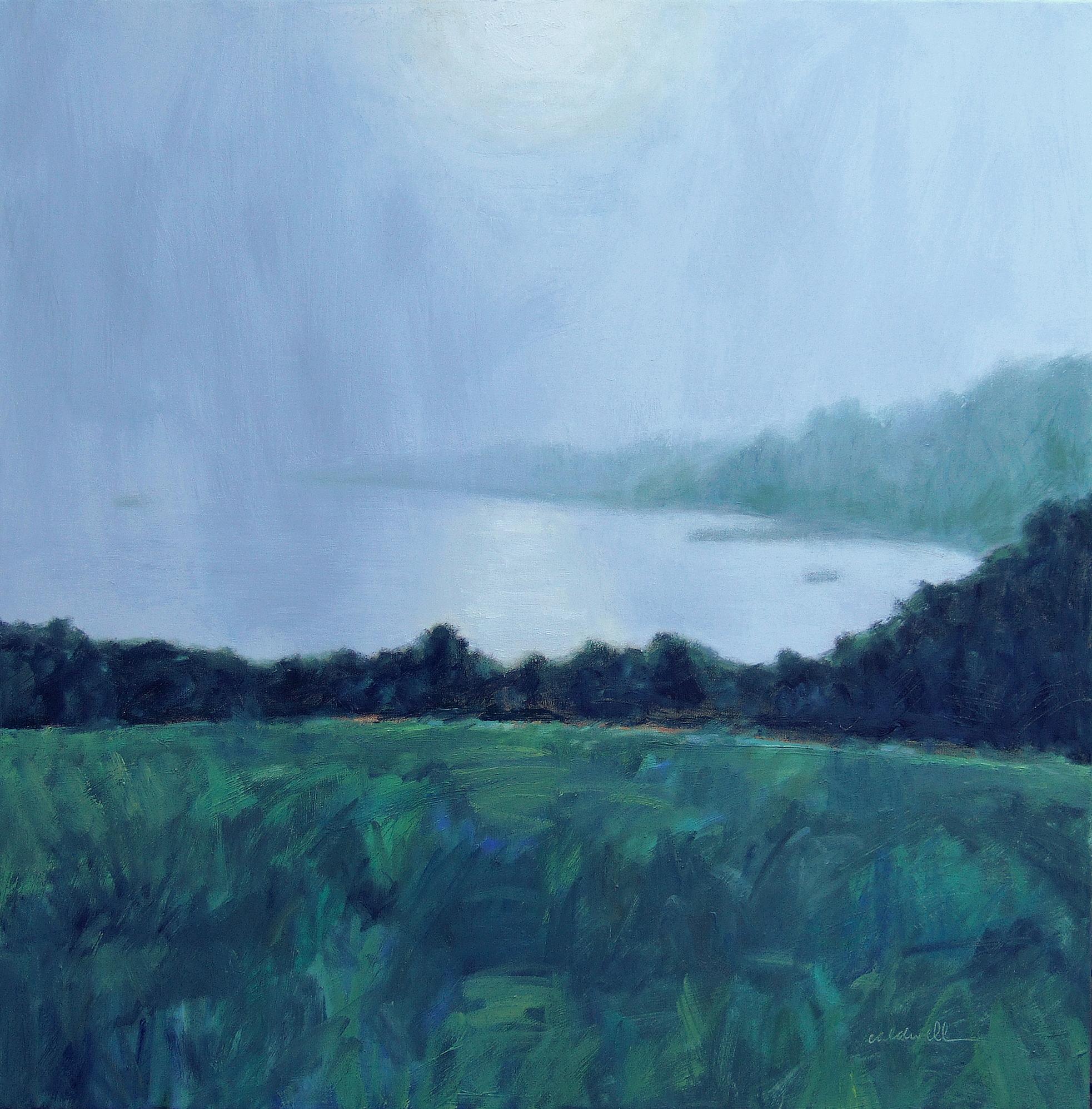 "Fog on the Cove 36 x 36"" Oil on Canvas"