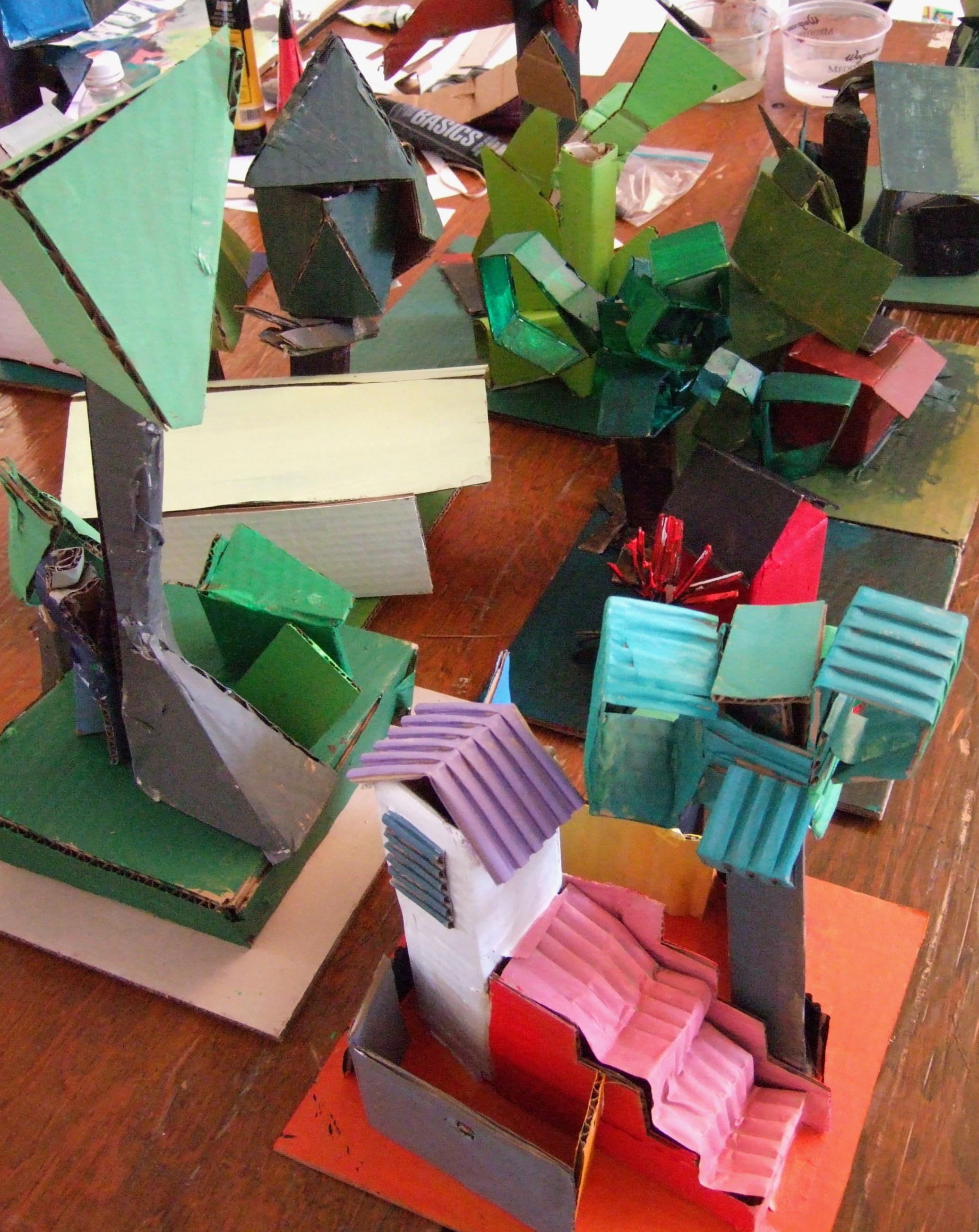 Putting the Cardboard Lancscapes Together