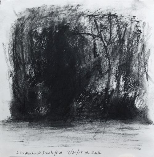 "sketchbook, charcoal, 6 x 6"" 9-20-17"