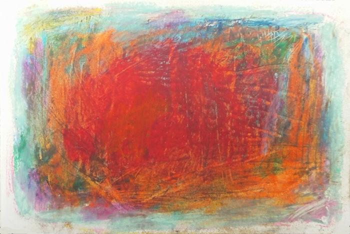 """sketchbook, oil pastel 3 x 5"""" 2017"""