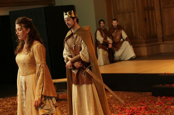 As Lady Grey in The Shakespeare Company's  King Henry VI part 3 - 2007  with Tyrell Crews, Trevor Matheson, and Stuart James