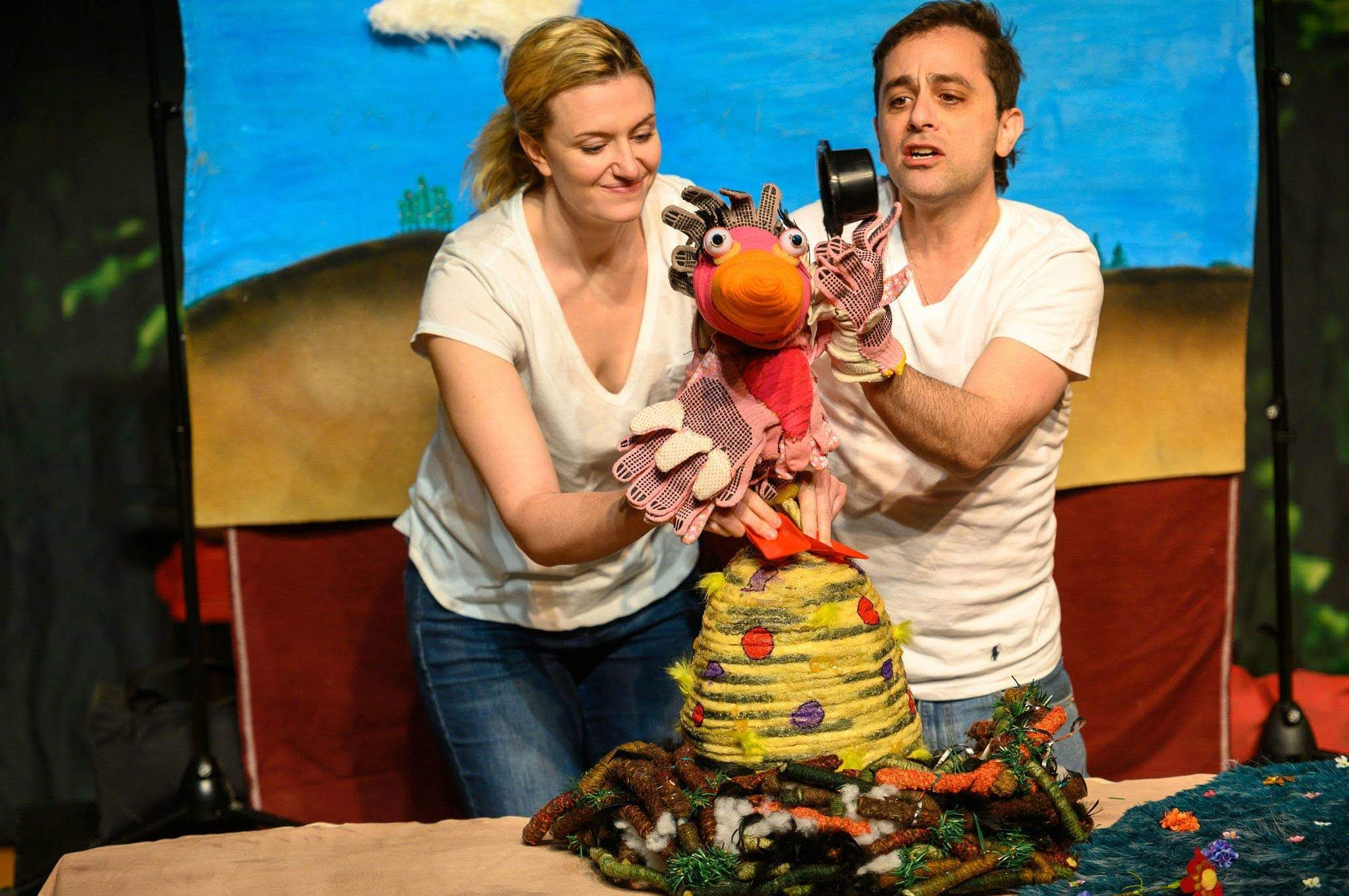 The Ugly Duckthing  Nominated for Dora awards for Best Ensemble, Best Design, Best New Play.  Photo cred: Dahlia Katz