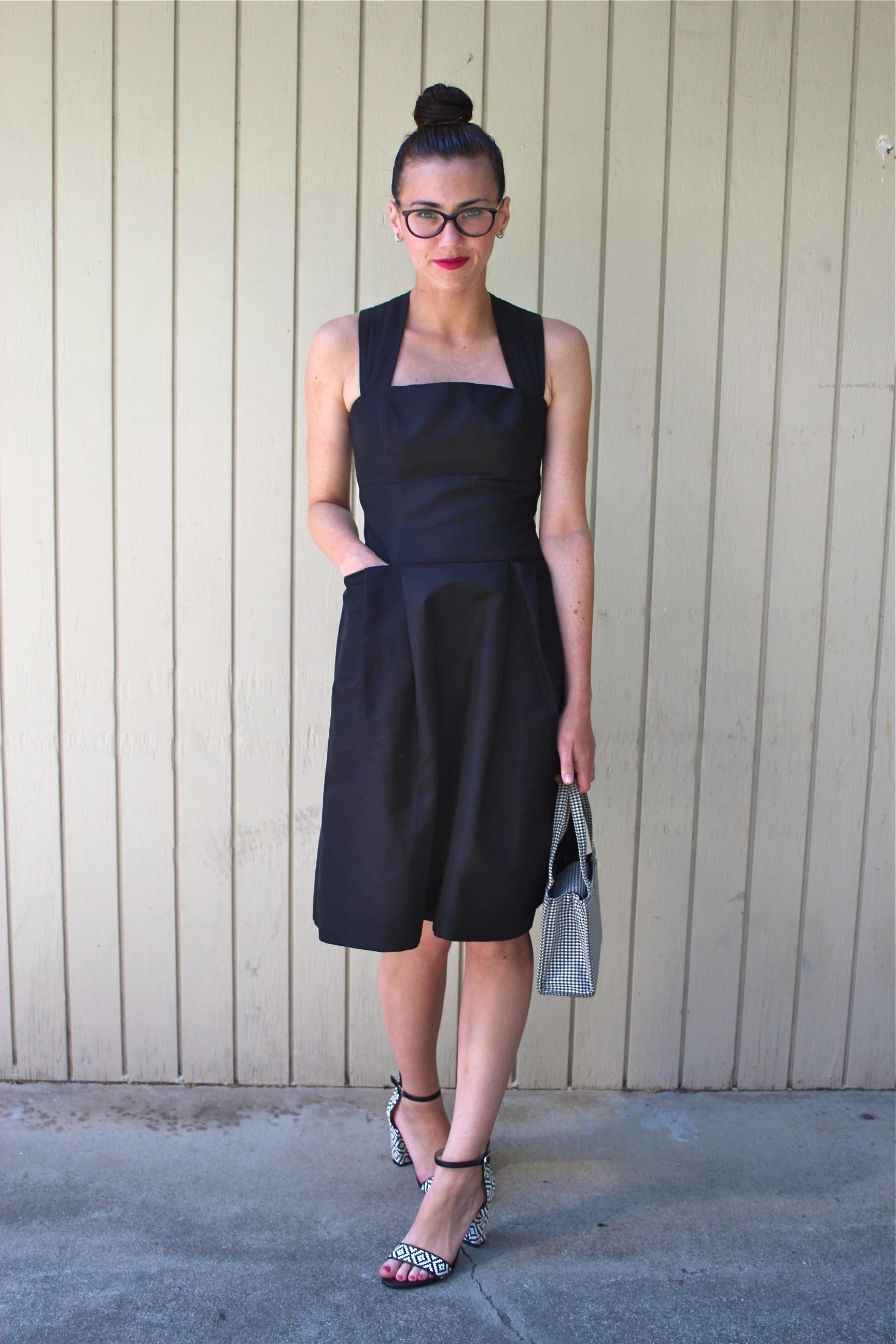 Dress: Mirror Of Venus, Anthropologie; Heels: Zara; Bag: Kate Spade