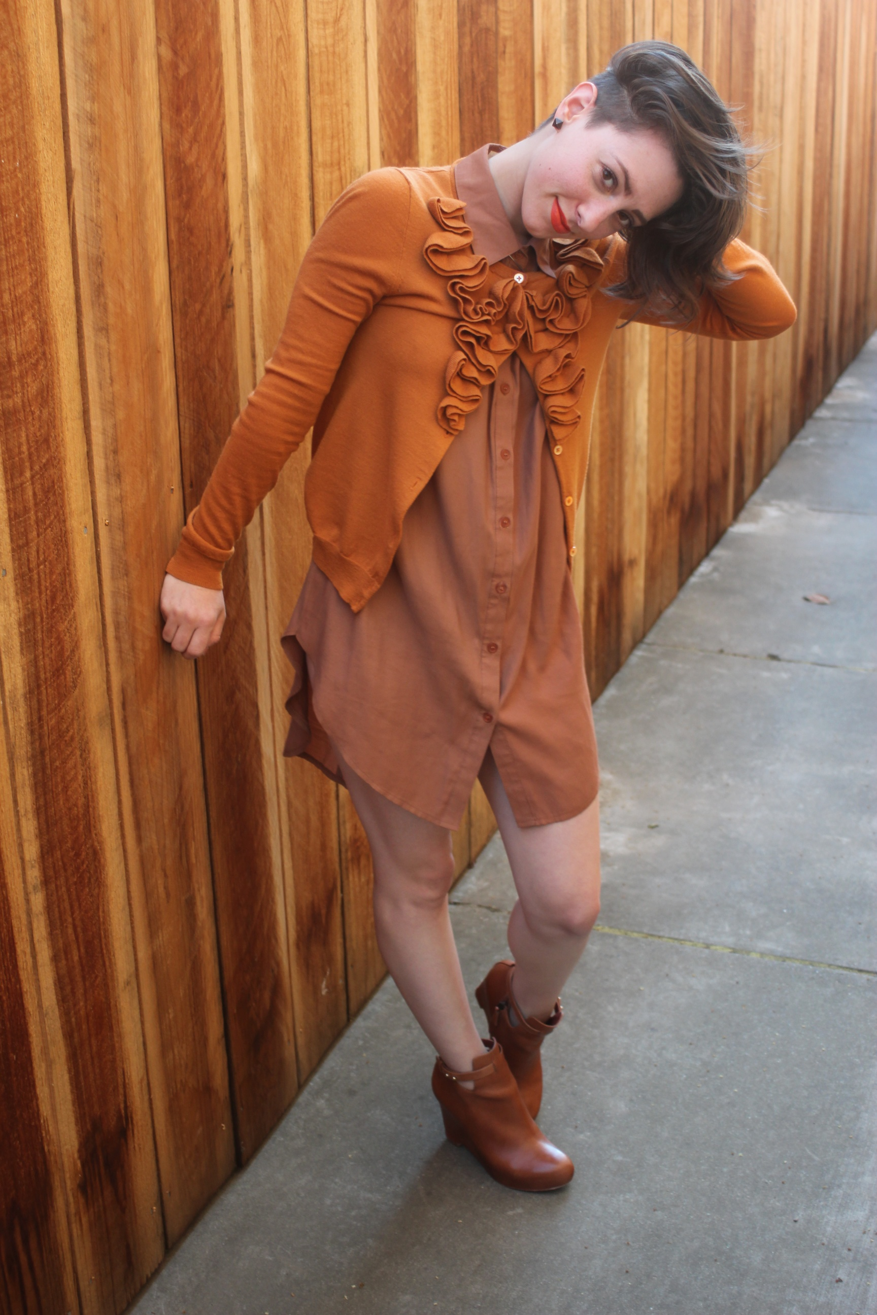 Cardigan: J.Crew; Dress: Sway, Shoes: Elizabeth and James