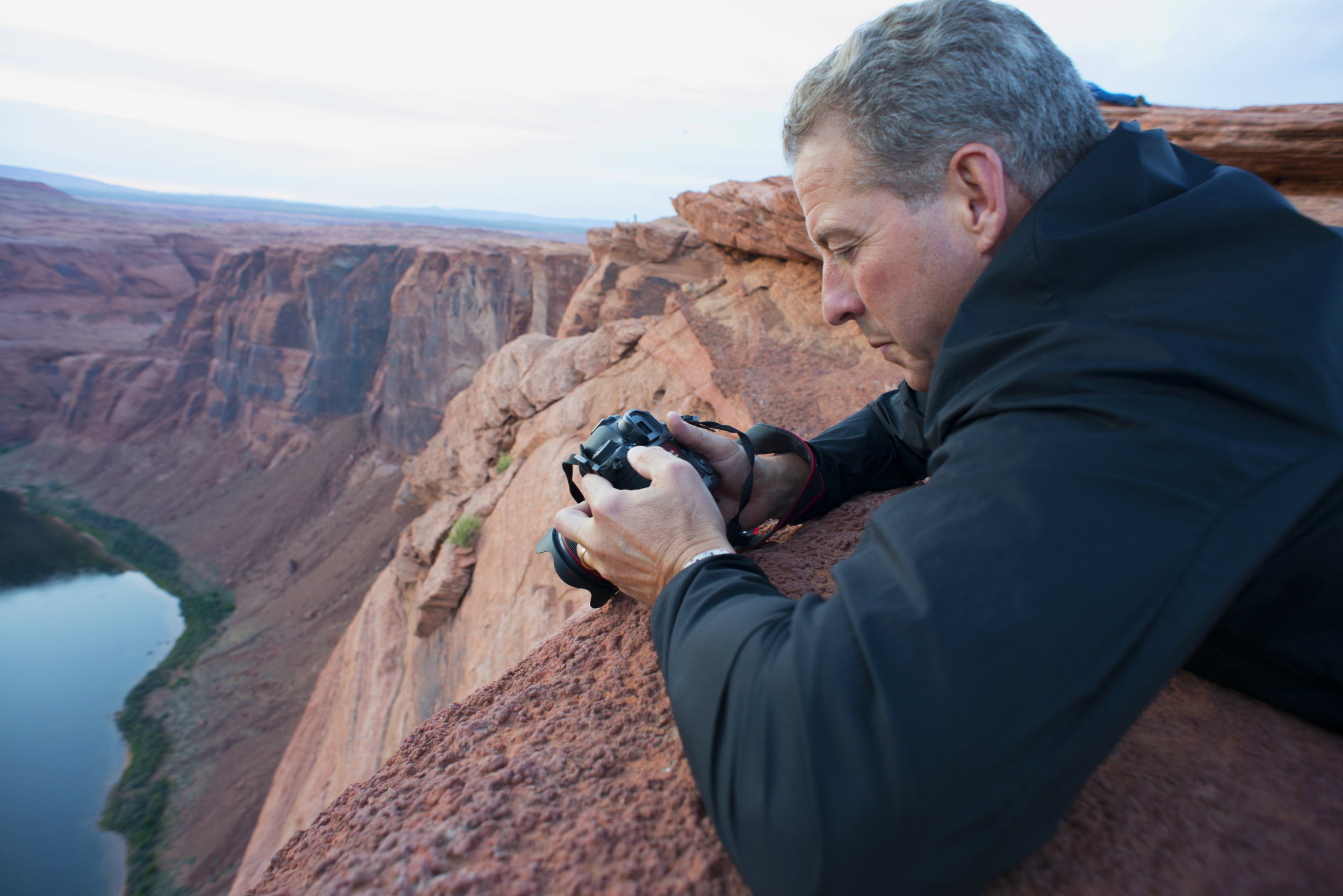 Bill Madden still looking for that polarizer.  Horseshoe bend, Arizona