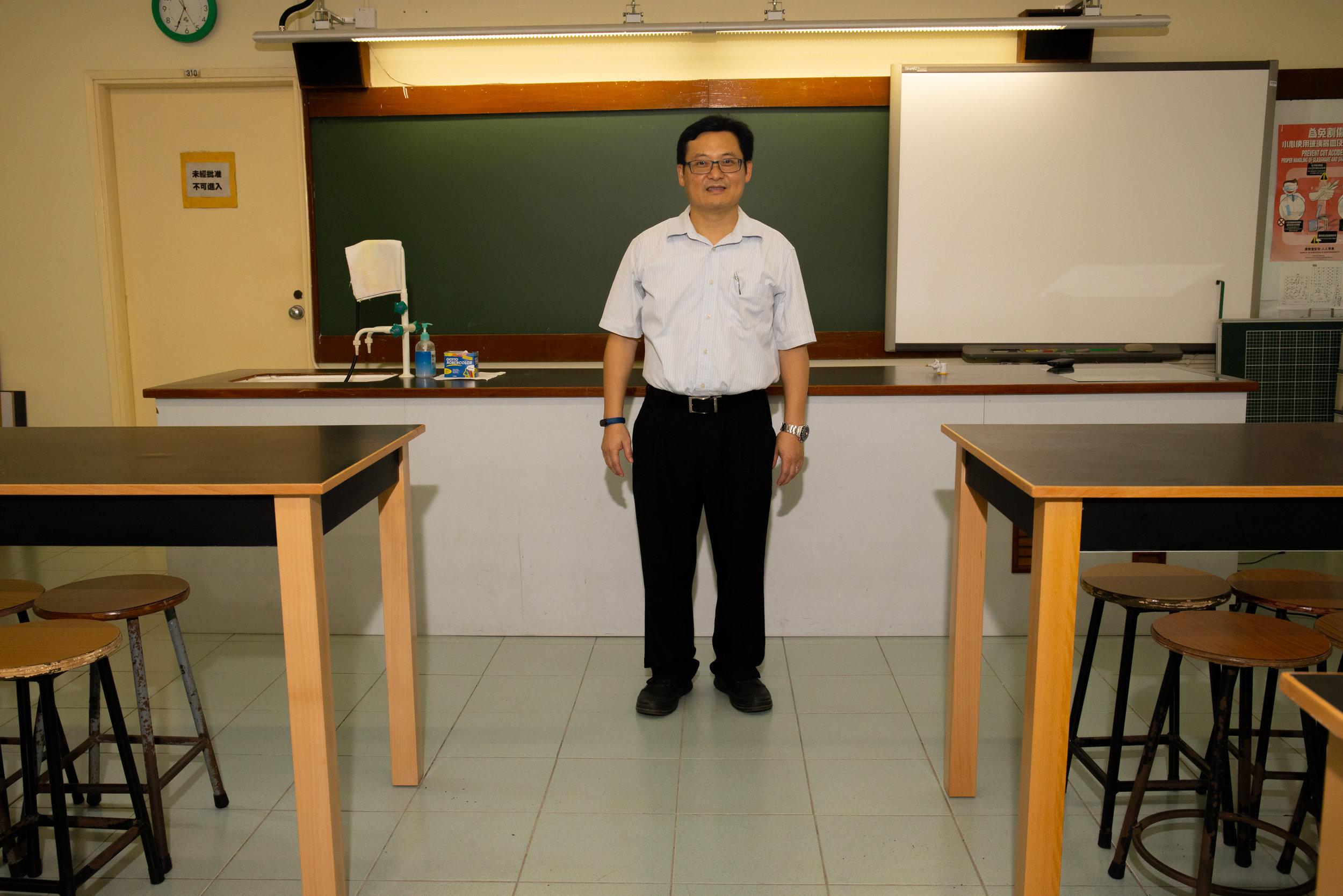 Kai Yin Cheung, physics teacher at the Man Kiu College, Hong Kong.