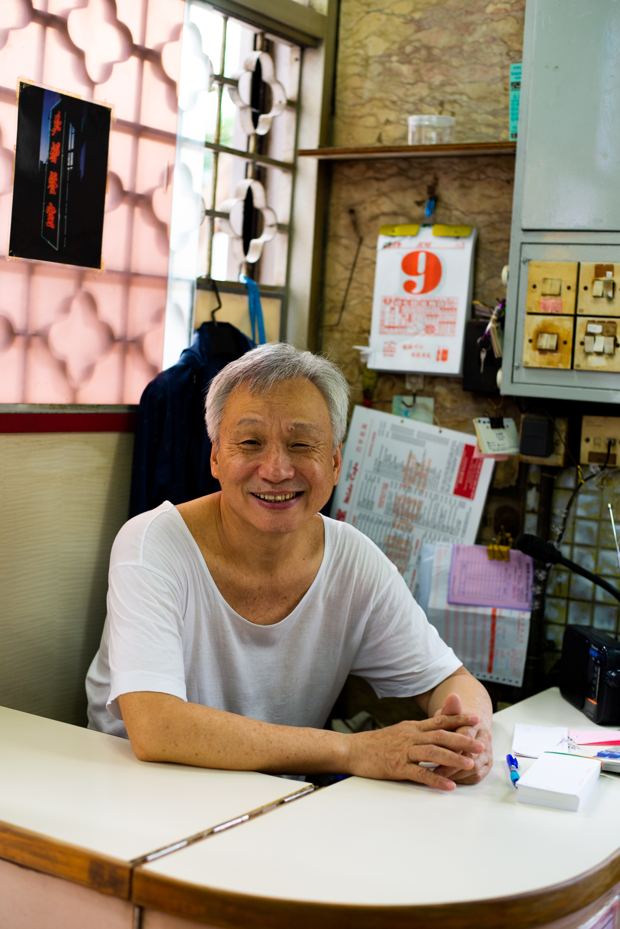 Owner of the Mido Cafe, Hong Kong, June 2019