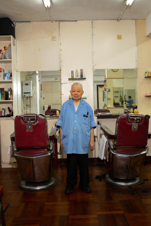 Barber No. 5 at the Shang Hai, Ambassador Beauty Shop, Hong Kong.