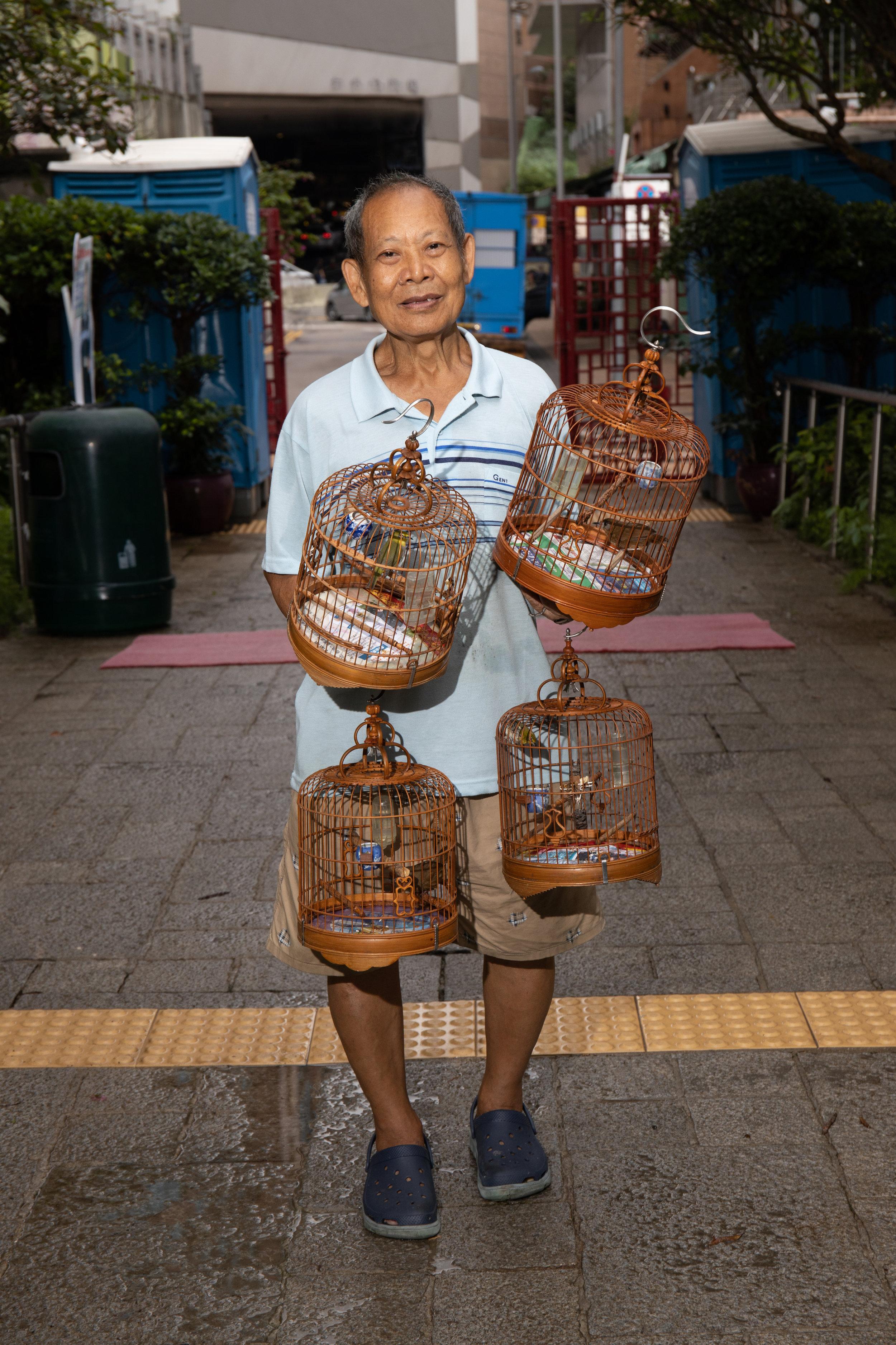 Bird Keeper, Hong Kong Bird Market, June 2019