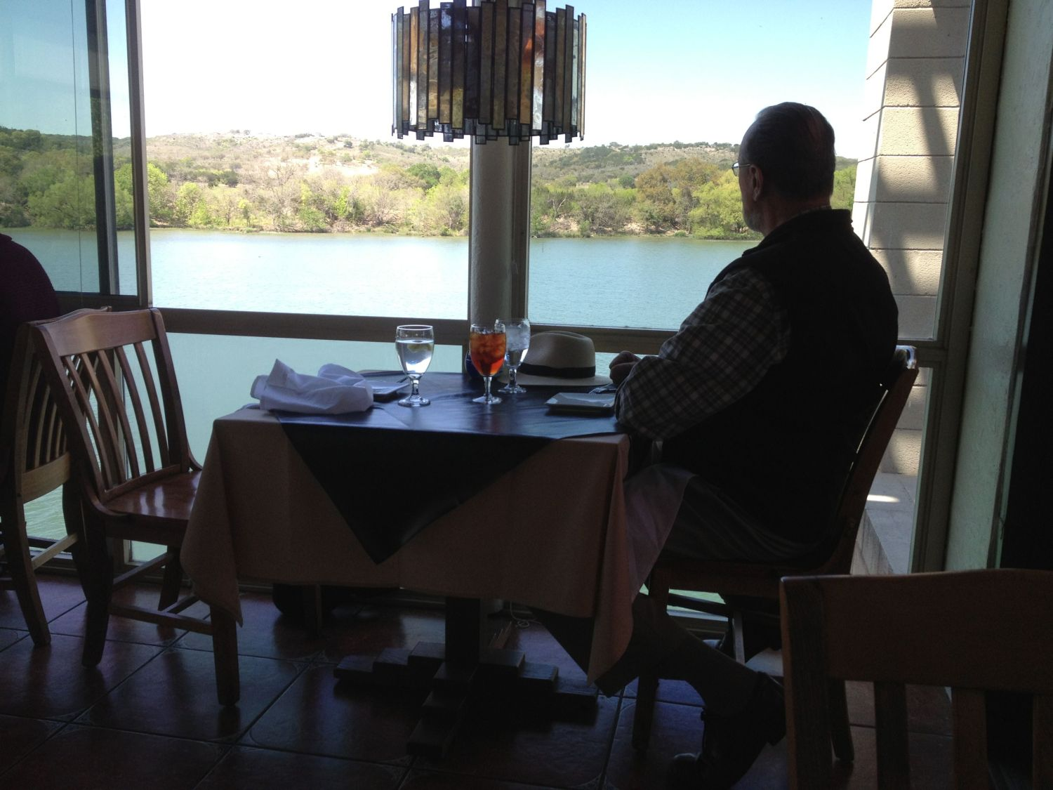 DBH overlooking the Guadalupe River at 1011 Bistro