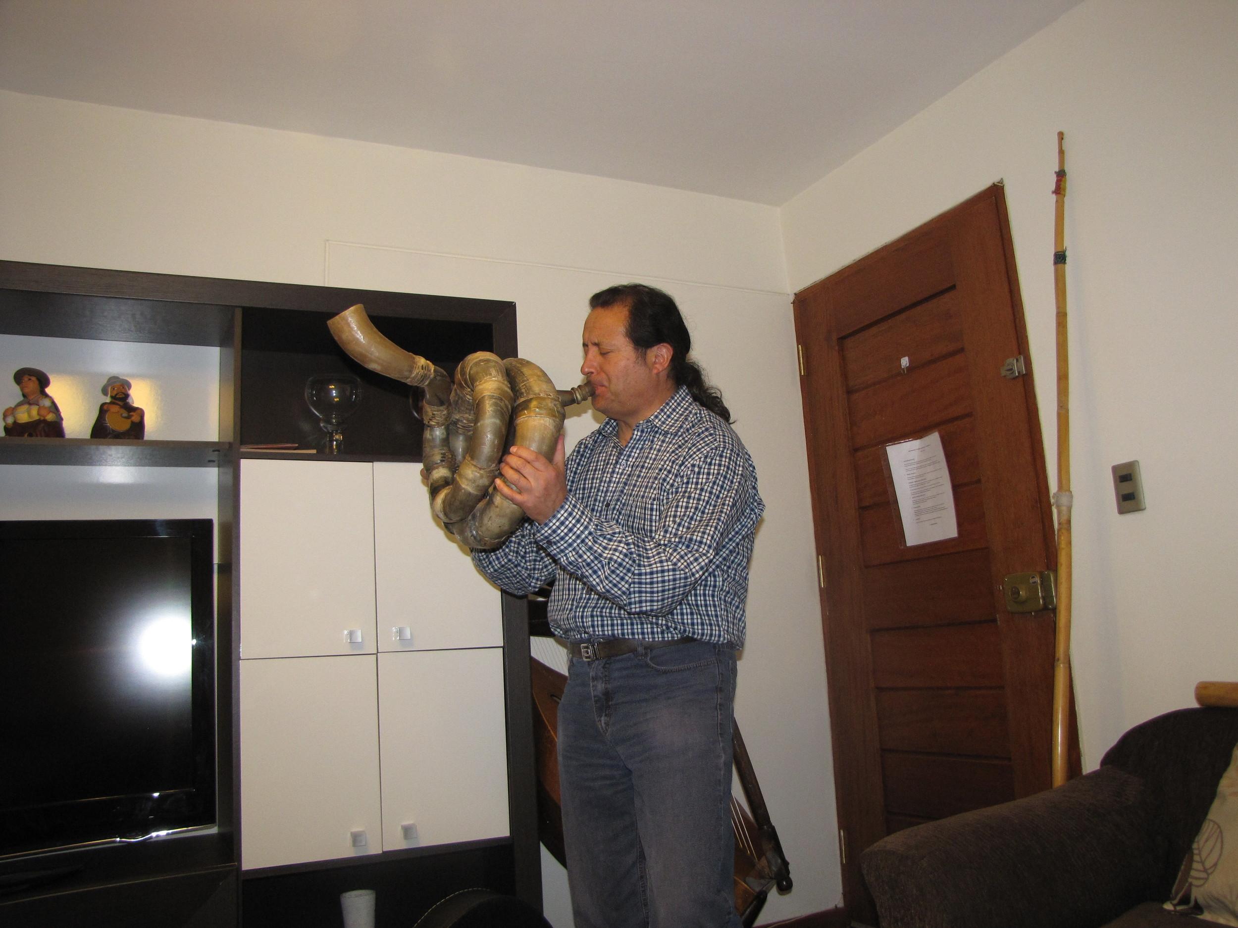 Tito playing the waca-waca