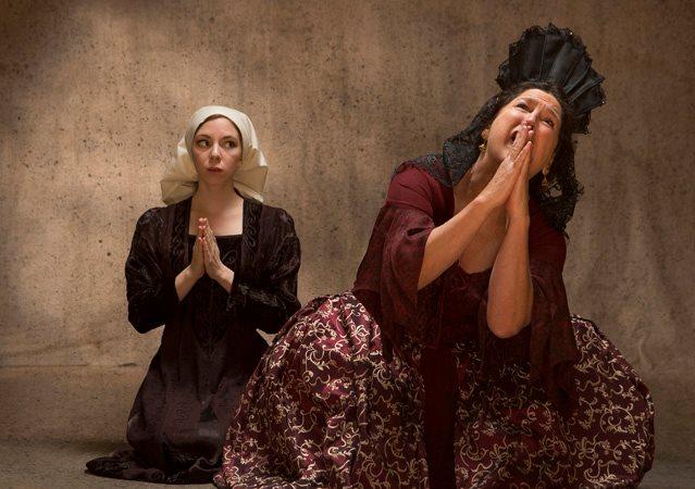 Gabriella De Brequet as Pepita and Kathryn Kellner Brown as the Marquesa Doña Maria