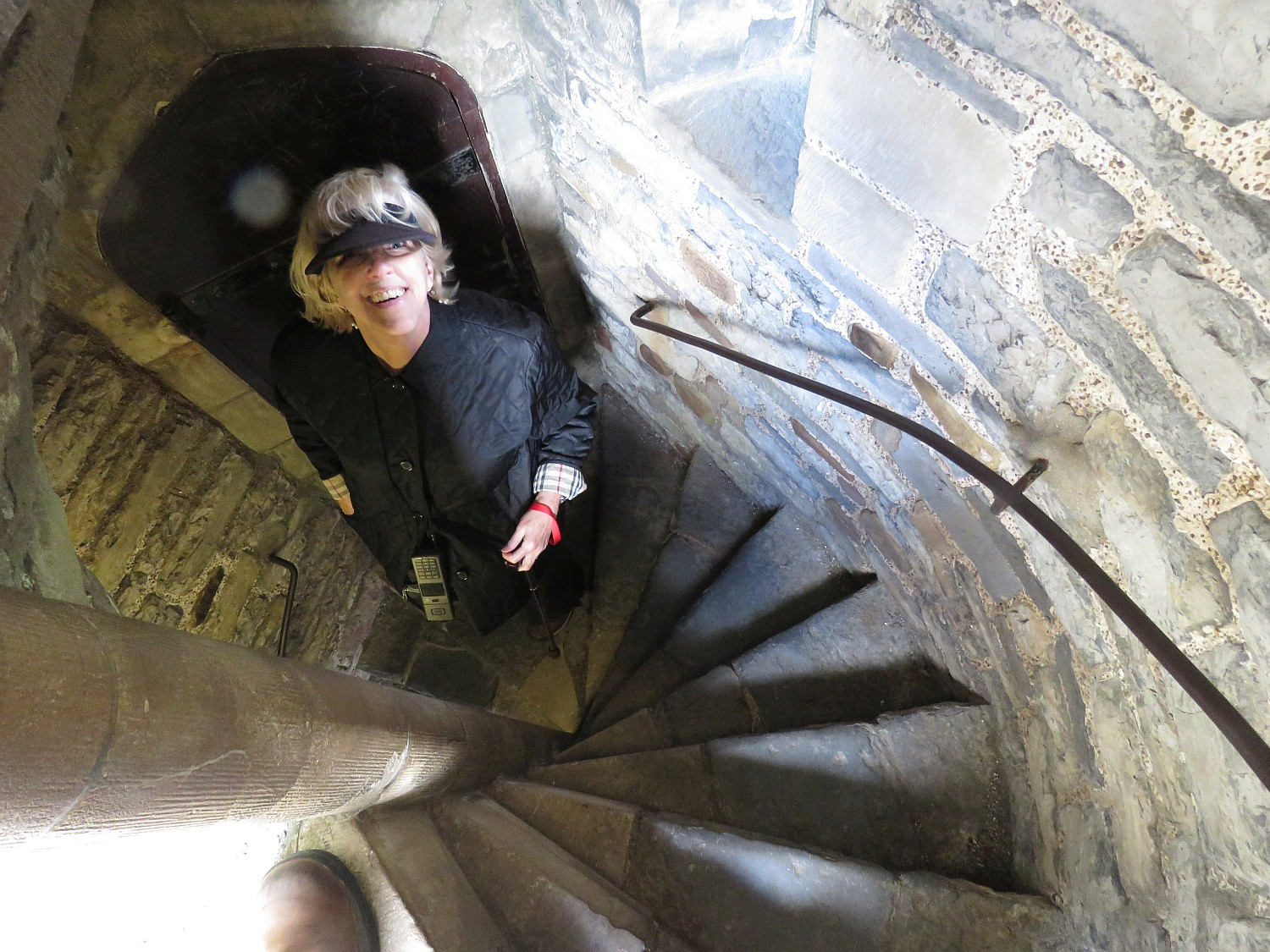 Up the stairs in the Keep