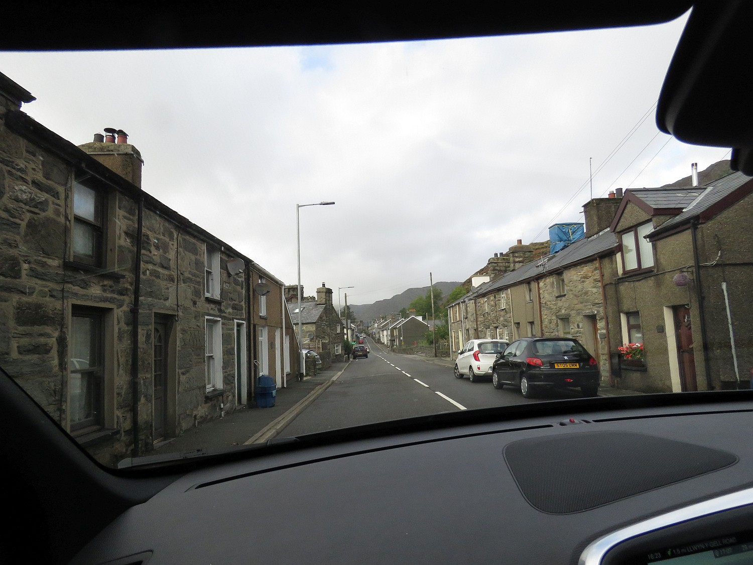 Driving through a typical mining town.