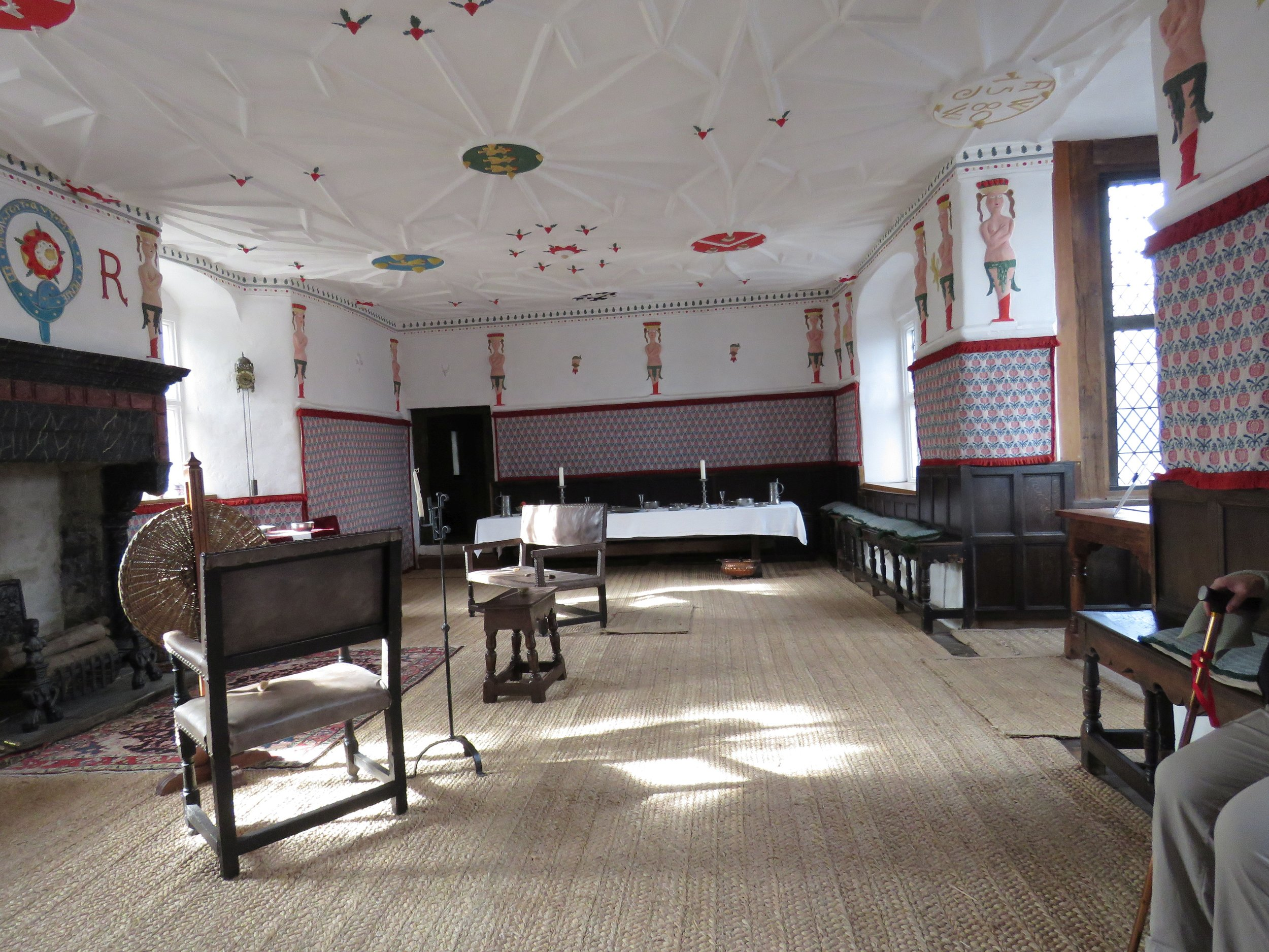 Great hall in Plas Mawr