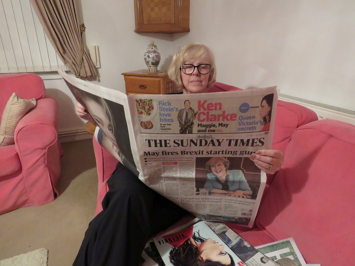 Enjoying The Sunday Times - more photos follow the post