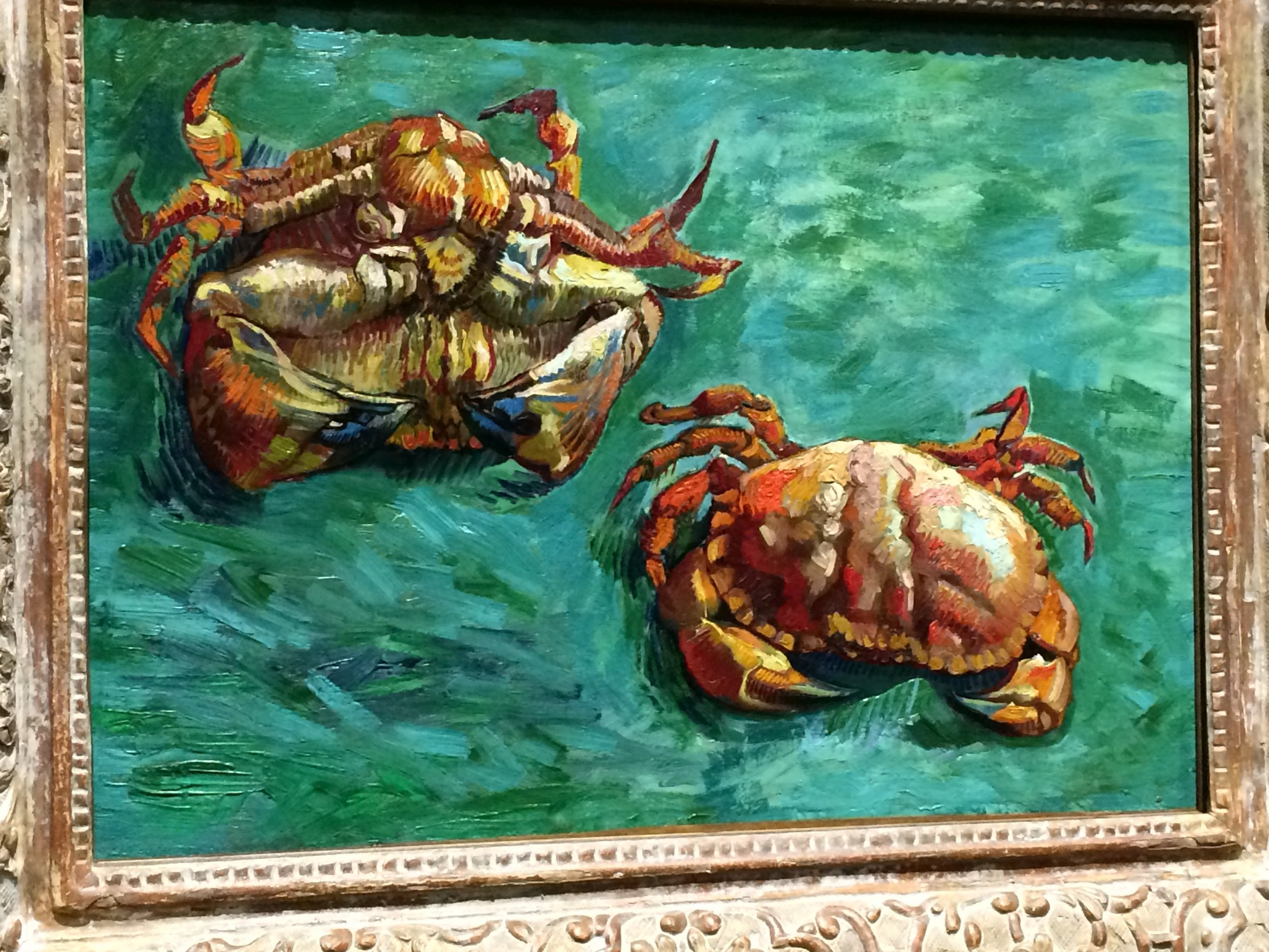 Van Goth, from his series Crabs.  I have never seen any of this series.  The colors here do not begin to do justice to the actual painting.  Many more photos follow the post.