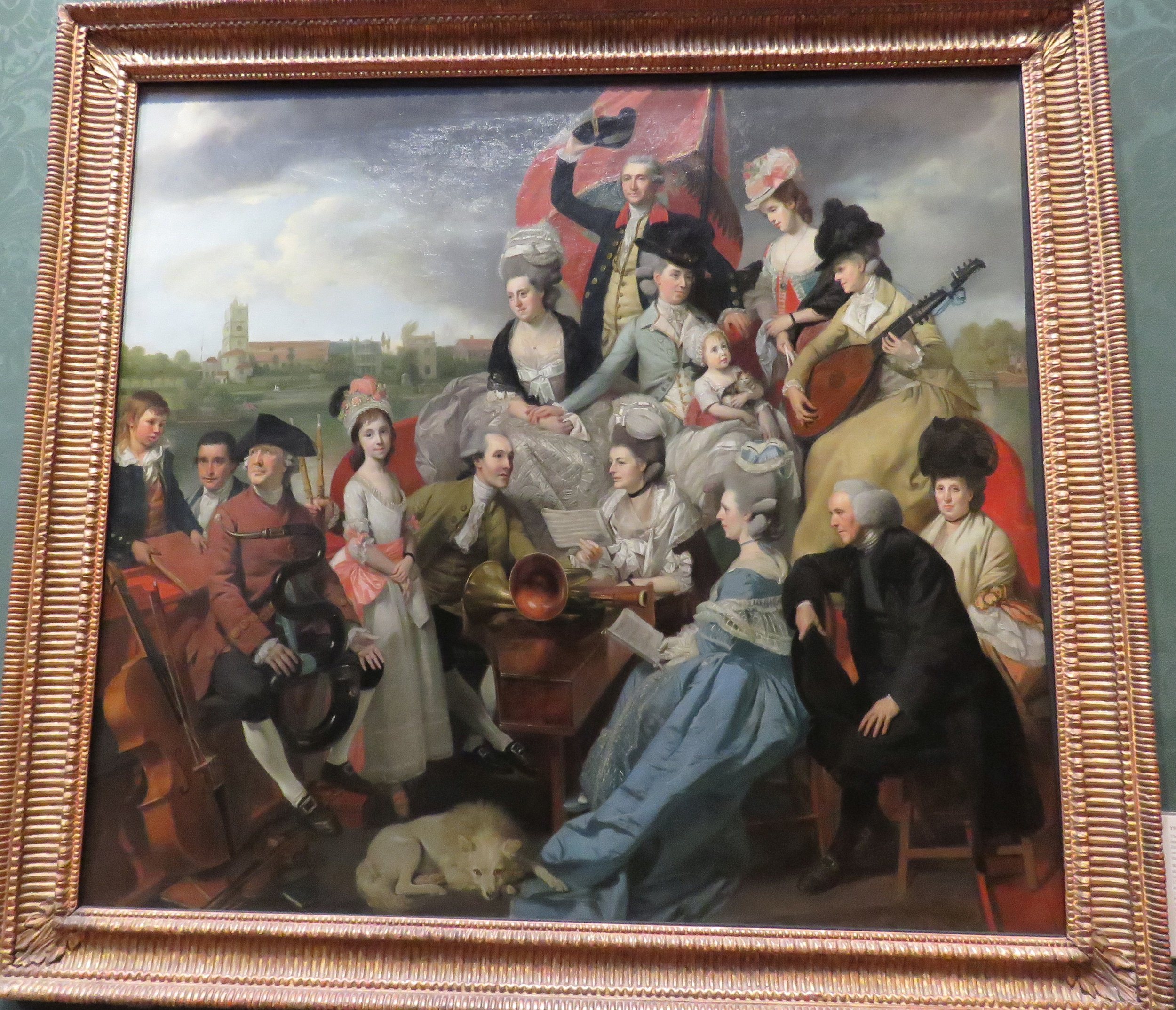 Early 18th century portrait of the Sharpe family orchestra.  So much fun.
