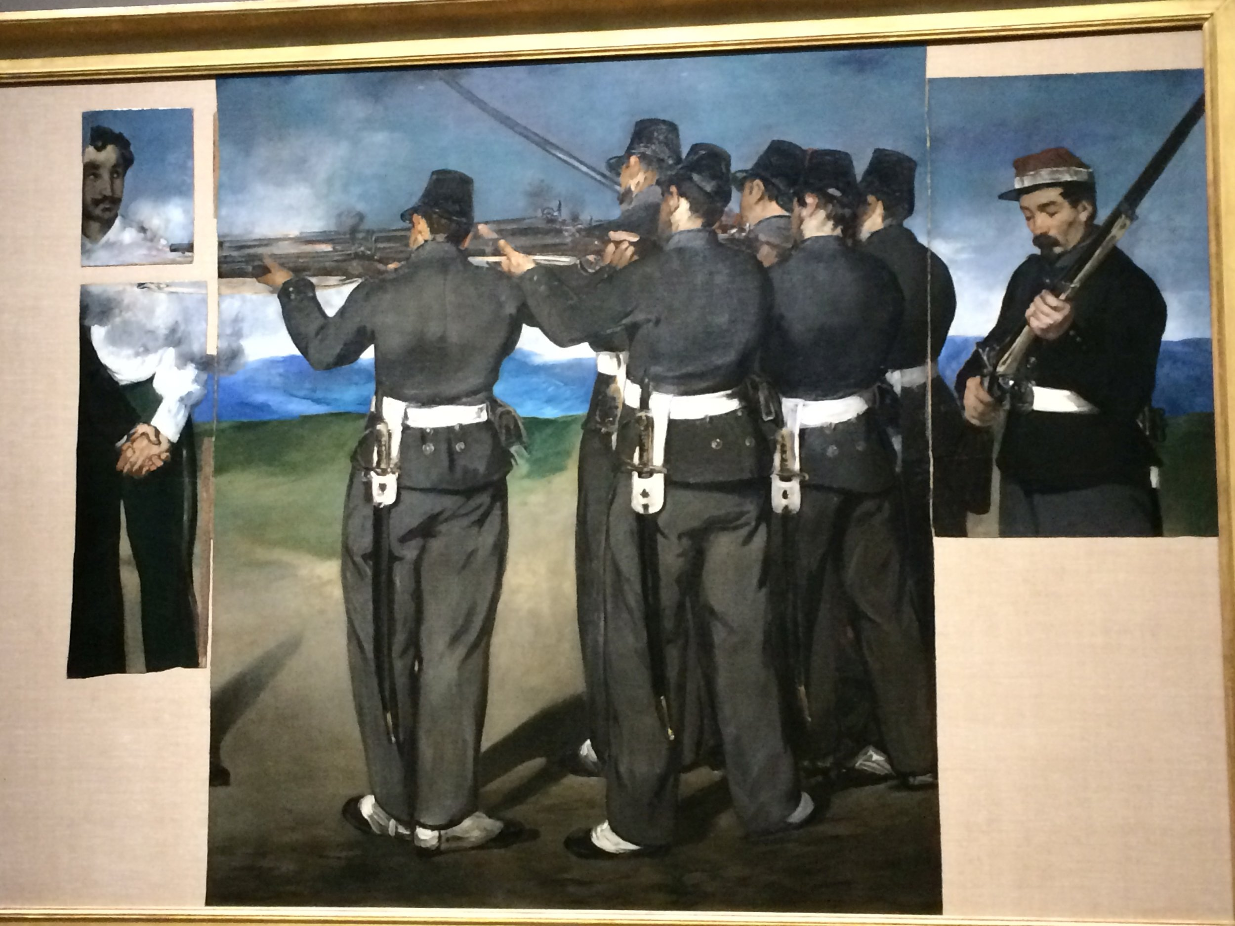 Seen many times in books, first time in person - Manet's Execution of the Emperor Maxillian
