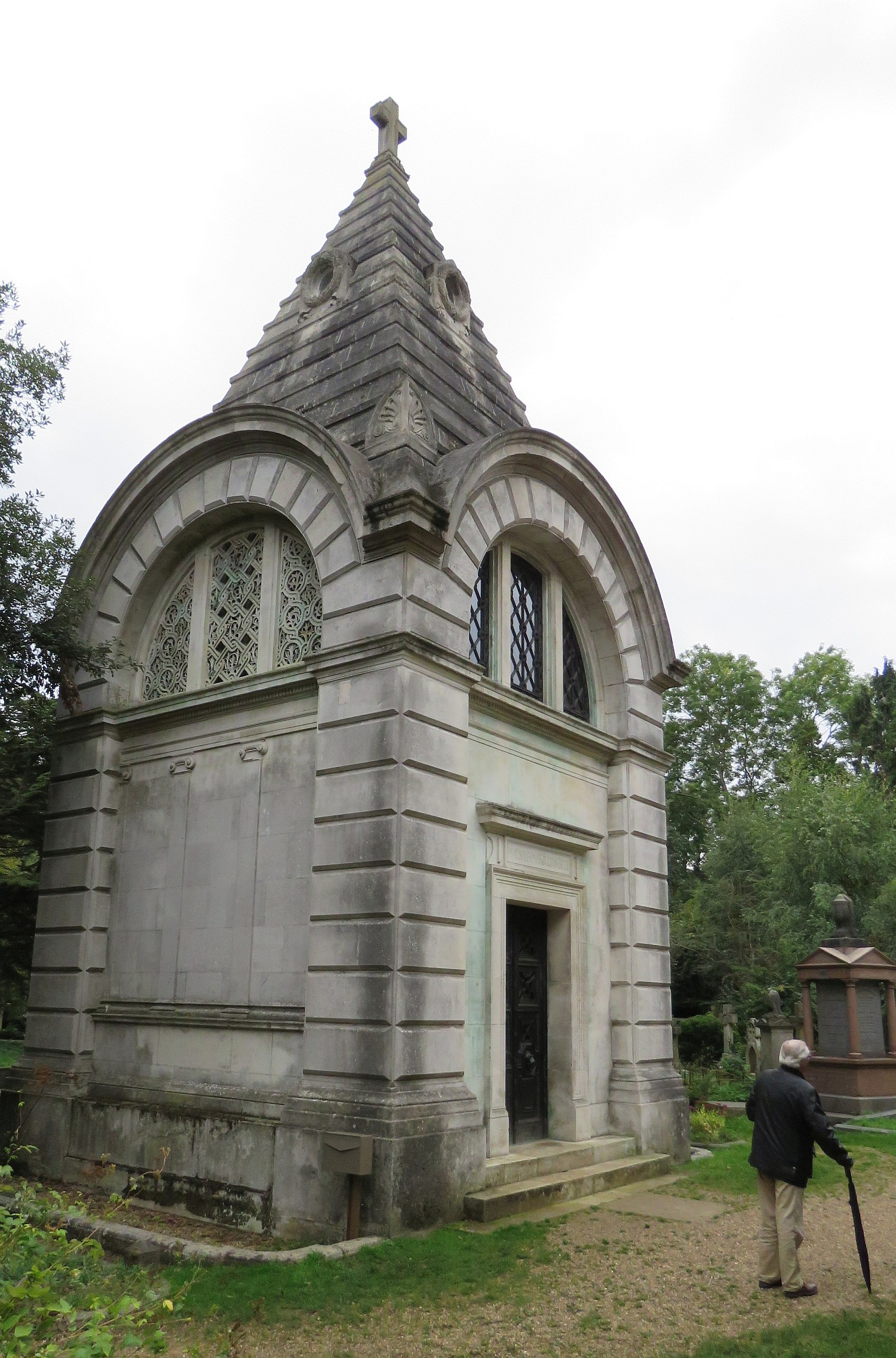 One of many individual crypts.  This one owned for a former Jewish family.  Only Christians allowed in the cemetery, with a special plot for reserved for those not Church of Christ.