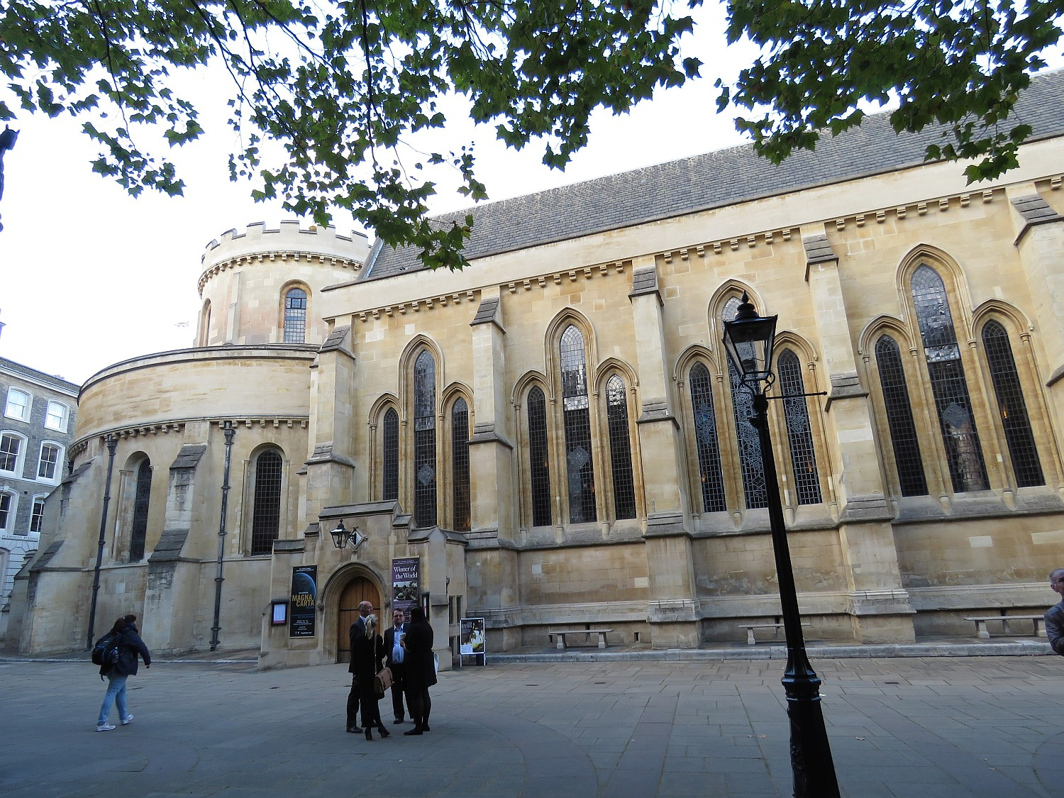 Temple Church of the Inner and Middle Temple dates to the 12th century and the Knights Templar.  This was originally their UK HQ, until they were dissolved in the mid-14th century.