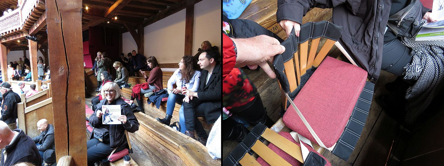 The seats are hard benches with no backs. We rented cushions and seatbacks. Comfortable.