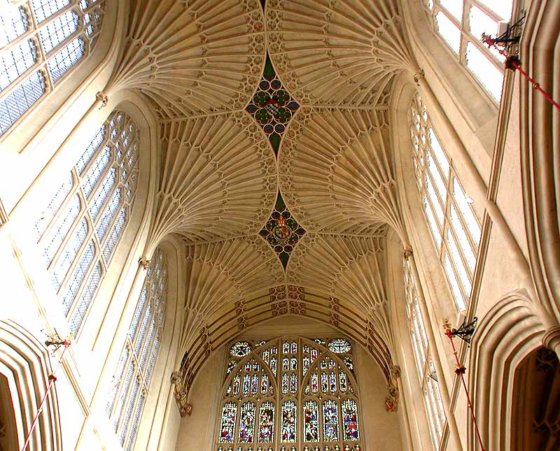 Ceiling of Westminster Abbey above the Choir