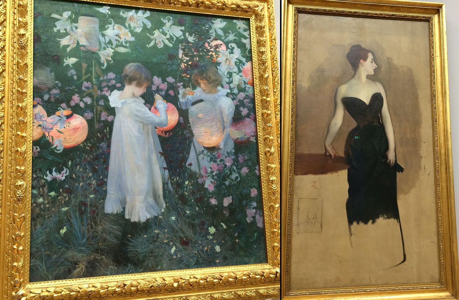 John Singer Sargent's Carnation, Lily, Lily, Rose and the study for Mme Gautreau, the painting of which is in the Chicago Art Institute
