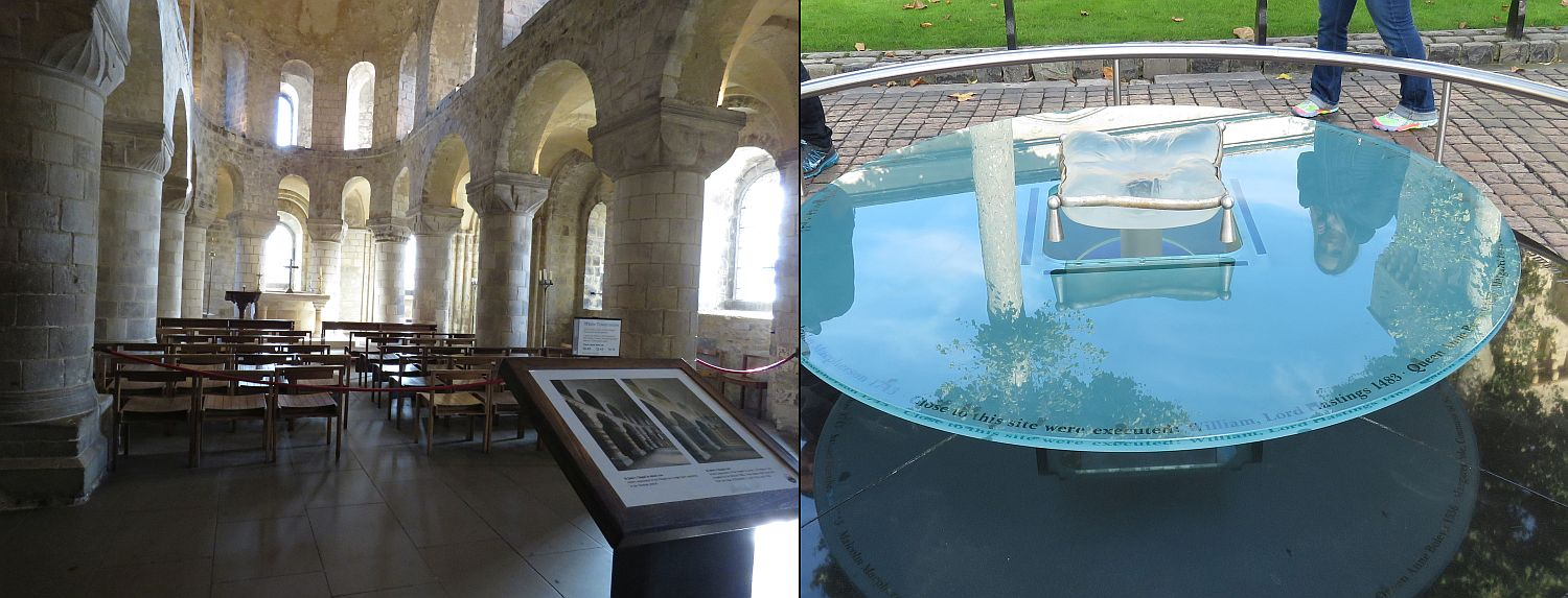 The Chapel in the White Tower--still used for services; the location of Anne's demise.