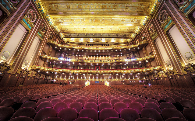 The Lyric Opera House from the stage.