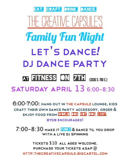 Locals, join me and my little family and friends this Saturday for a fantastic DJ Dance Party. A kids DJ Dance party that is, complete with craft projects inside an awesome . . .  READ MORE