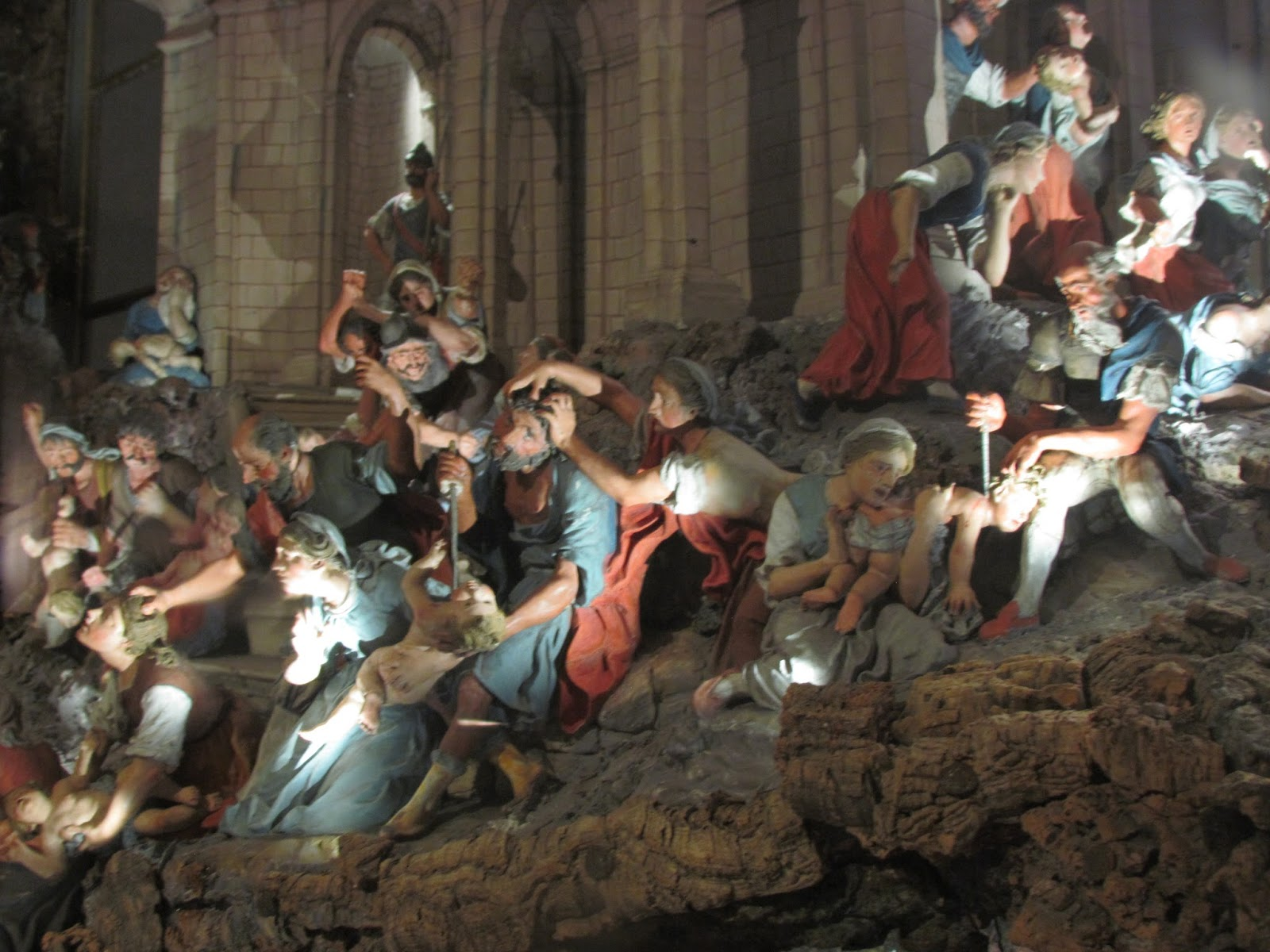 An 18th Century nativity in Portugal depicts the slaughter of the innocents.