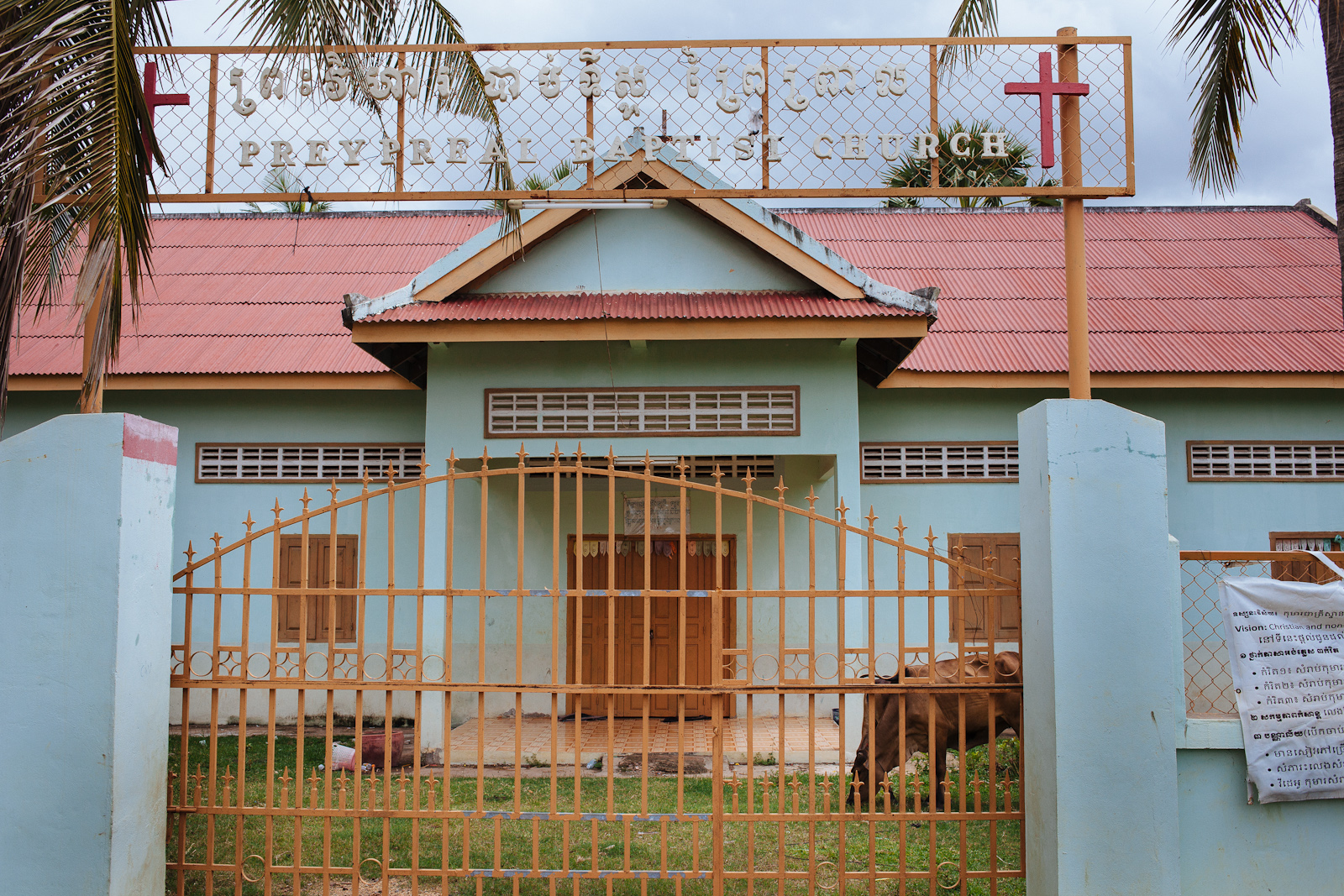 The country church in Kampong Thom that Sorn attends