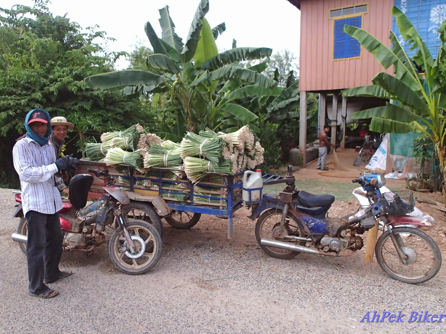 A Cambodian man (not Sorn) transporting produce to market