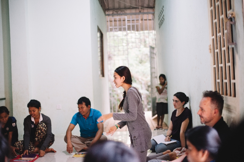 An Alongsiders meeting in Cambodia - a fast growing new movement to equip youth to reach out to vulnerable children.