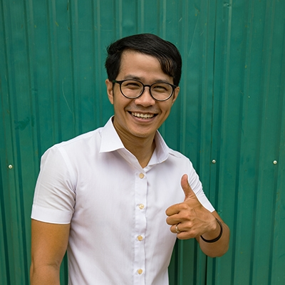 Daly Gnou. Daly is known for his quiet, but wise presence. He is one of our senior Khmer leaders. Daly has a background of several years working in finance, having worked at Mercy Medical Hospital as an accountant. He is a hobby photographer and enjoys going to the gym and playing soccer. In his spare time he leads a small group at his church.