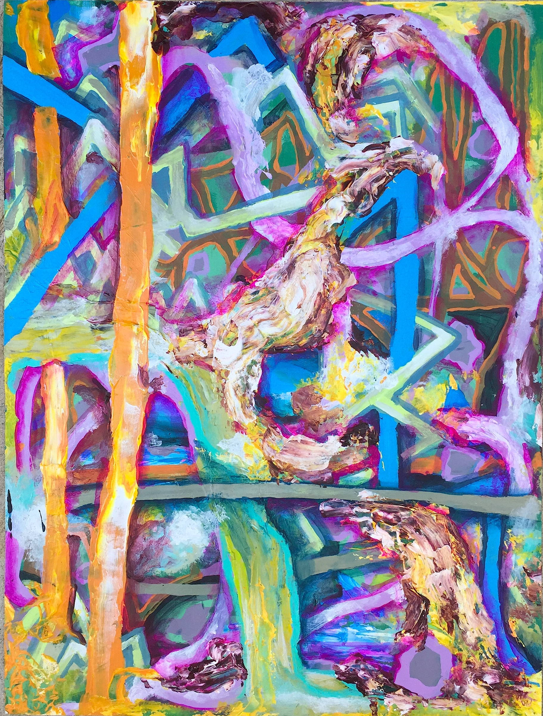 """Taste Chase, mixed media on paper, 24"""" x 18"""", 2015"""