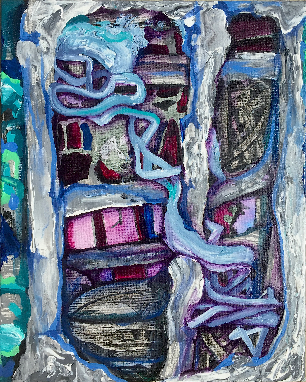 "Directed Energy, 20"" x 16"", acrylic on canvas"
