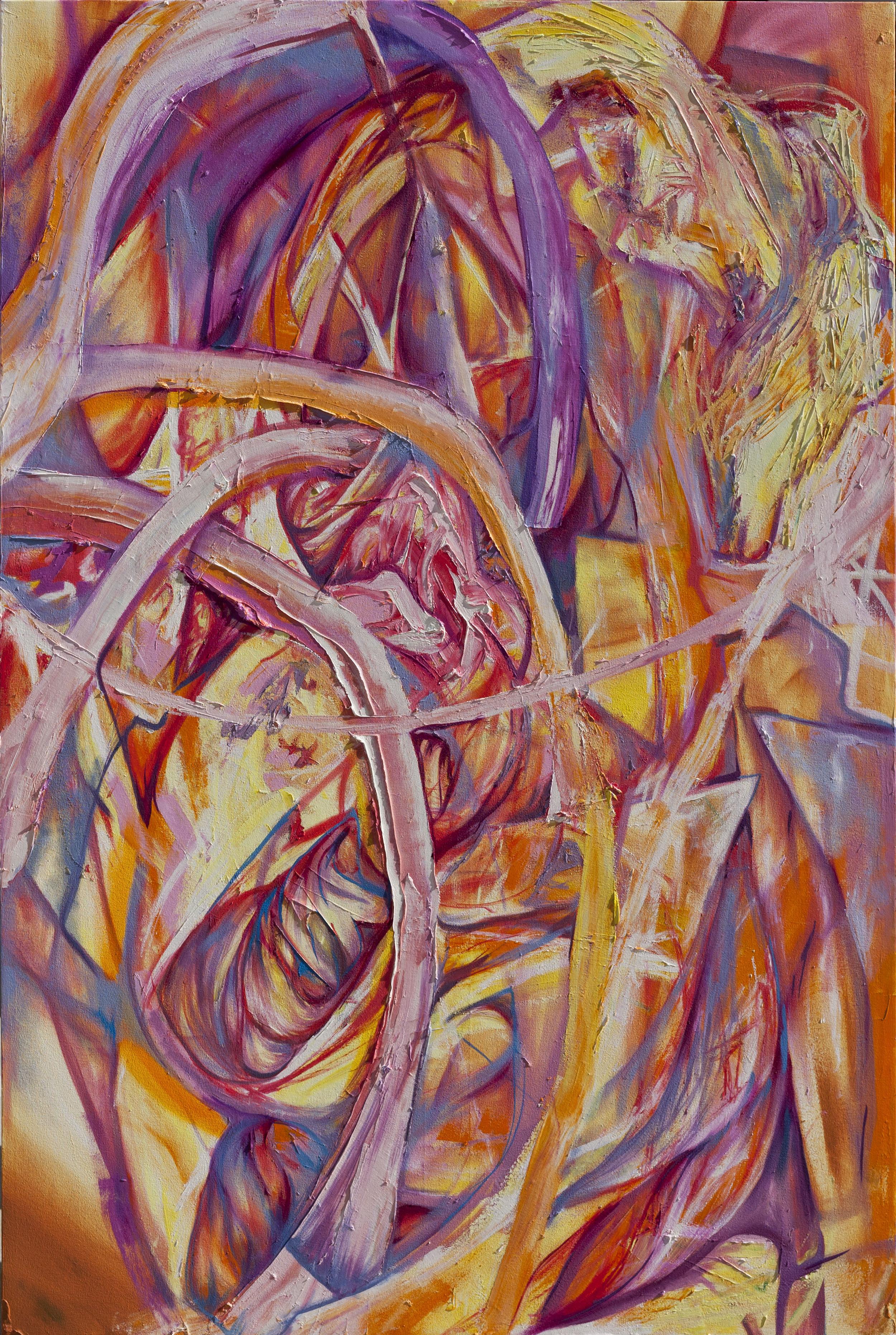 "Domestic Spark, 72"" x 48"", Oil on Canvas, 2015"
