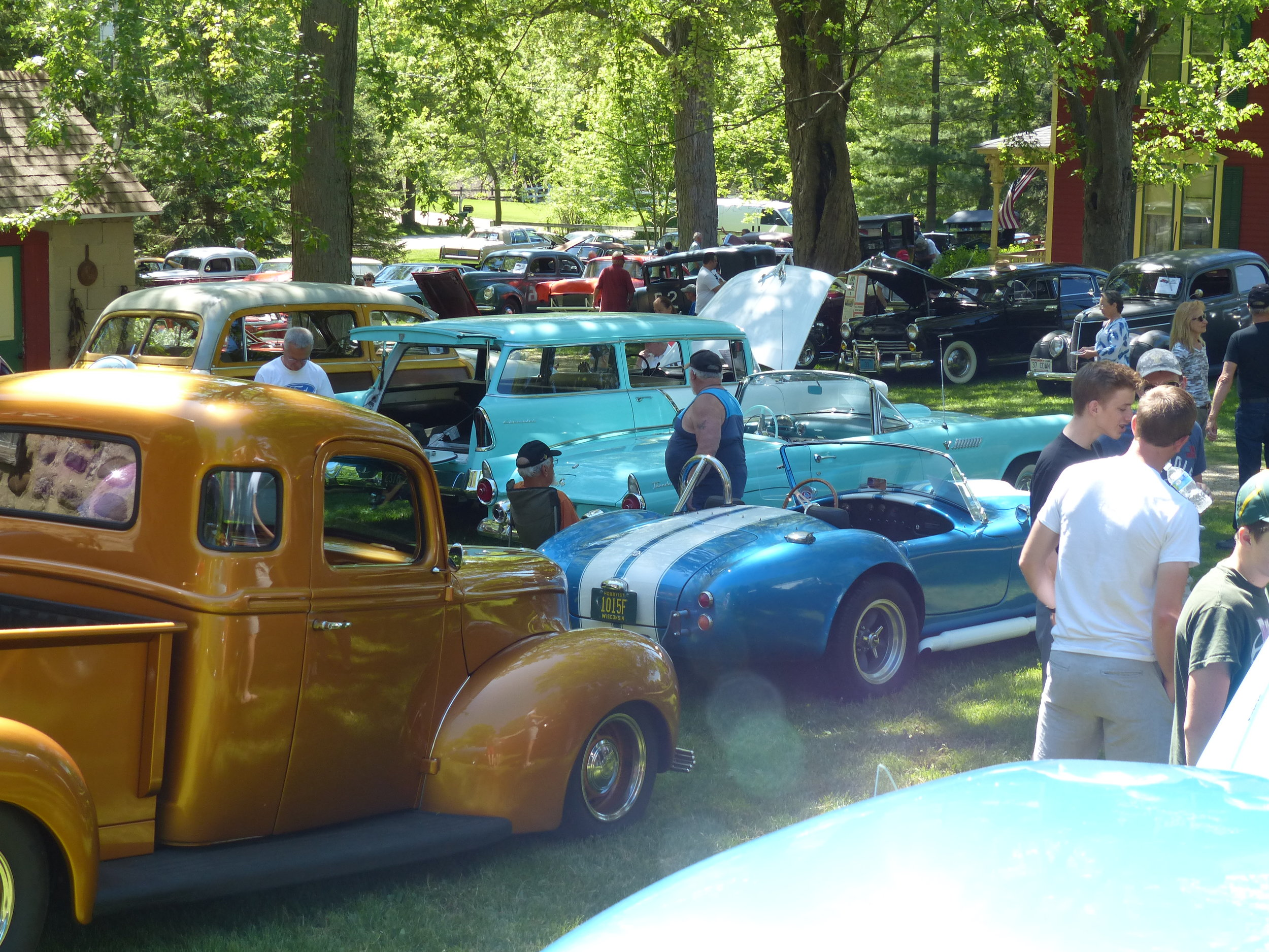 We see a wide variety of two- and four-wheeled (and sometimes six-wheeled) vehicles at Dick's Garage Reunion. The show is open to all antique, Classic, hot rod, street rod, resto-modded, rat-rodded, unrestored, restored, stock, modified, or race cars, trucks, bikes, and karts. Just about anything on engine-driven wheels.