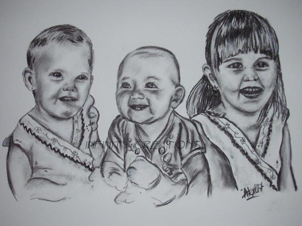Three Girls  Commission