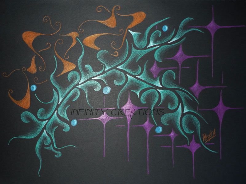 Composition One  A3 Black paper, unframed  $150