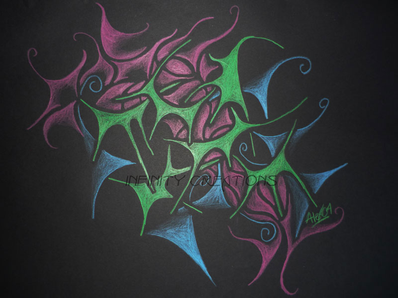 Composition Two  A3 Black paper, unframed  $150