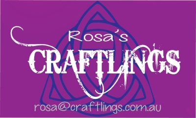 Business card and logo design for Rosa's Craftlings