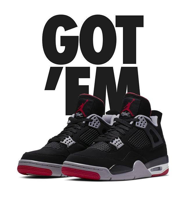Picked up some Bred this morning. #nike #jordan #bred4s #airjordan4