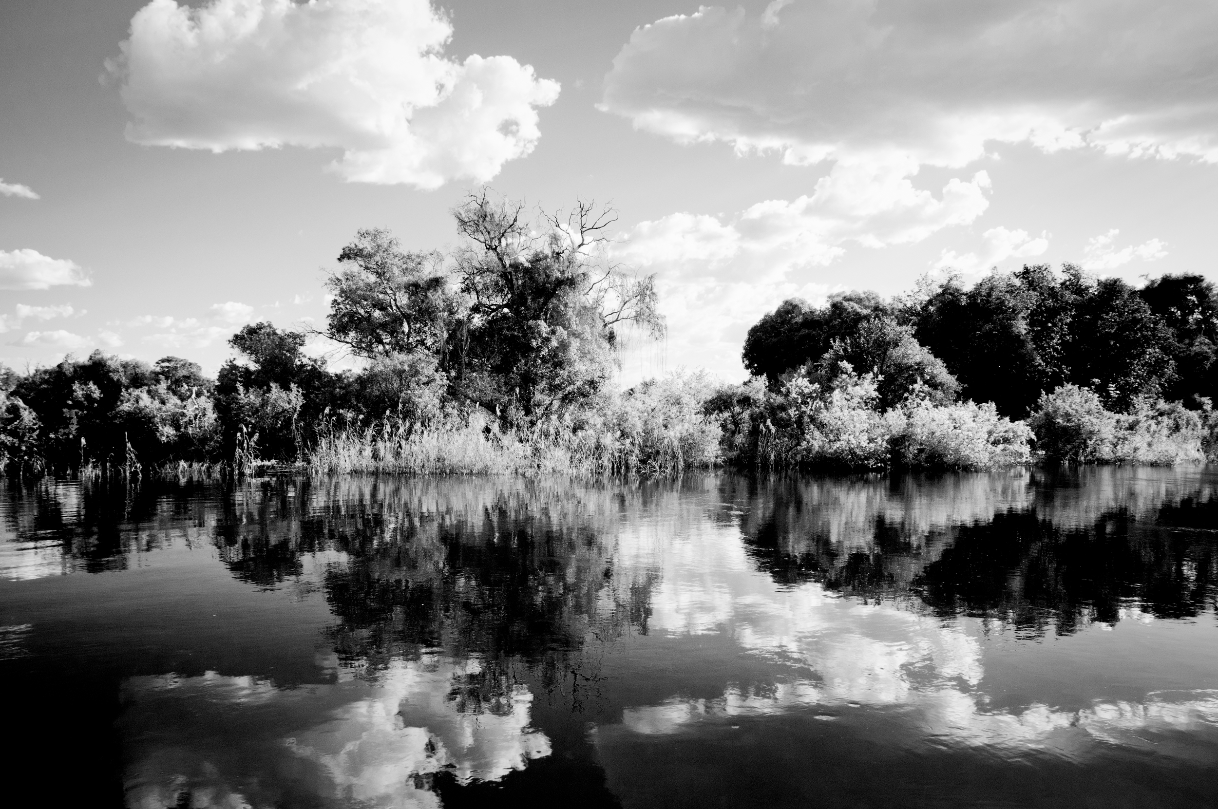 Playing with reflections, B&W