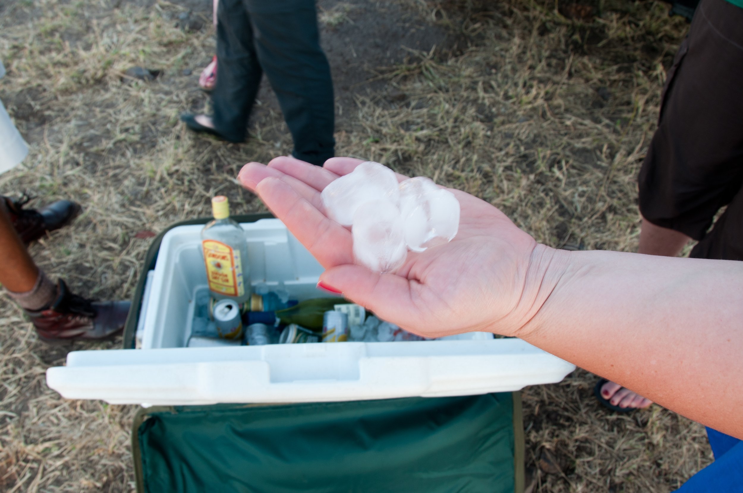As Kate thought us- the most important thing in the bush... is ice!!!!