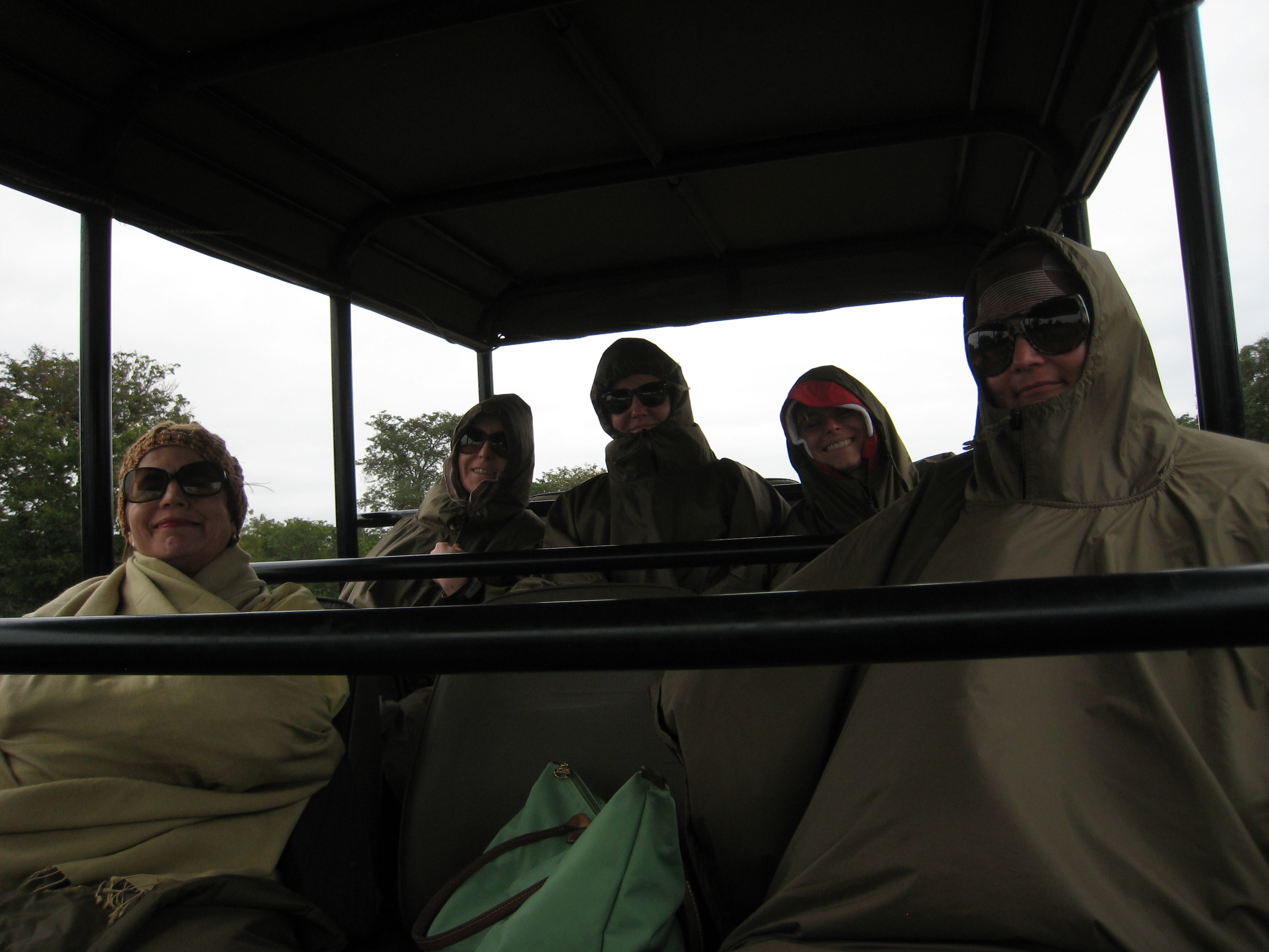 And that's how we looked during the ride to the boat...