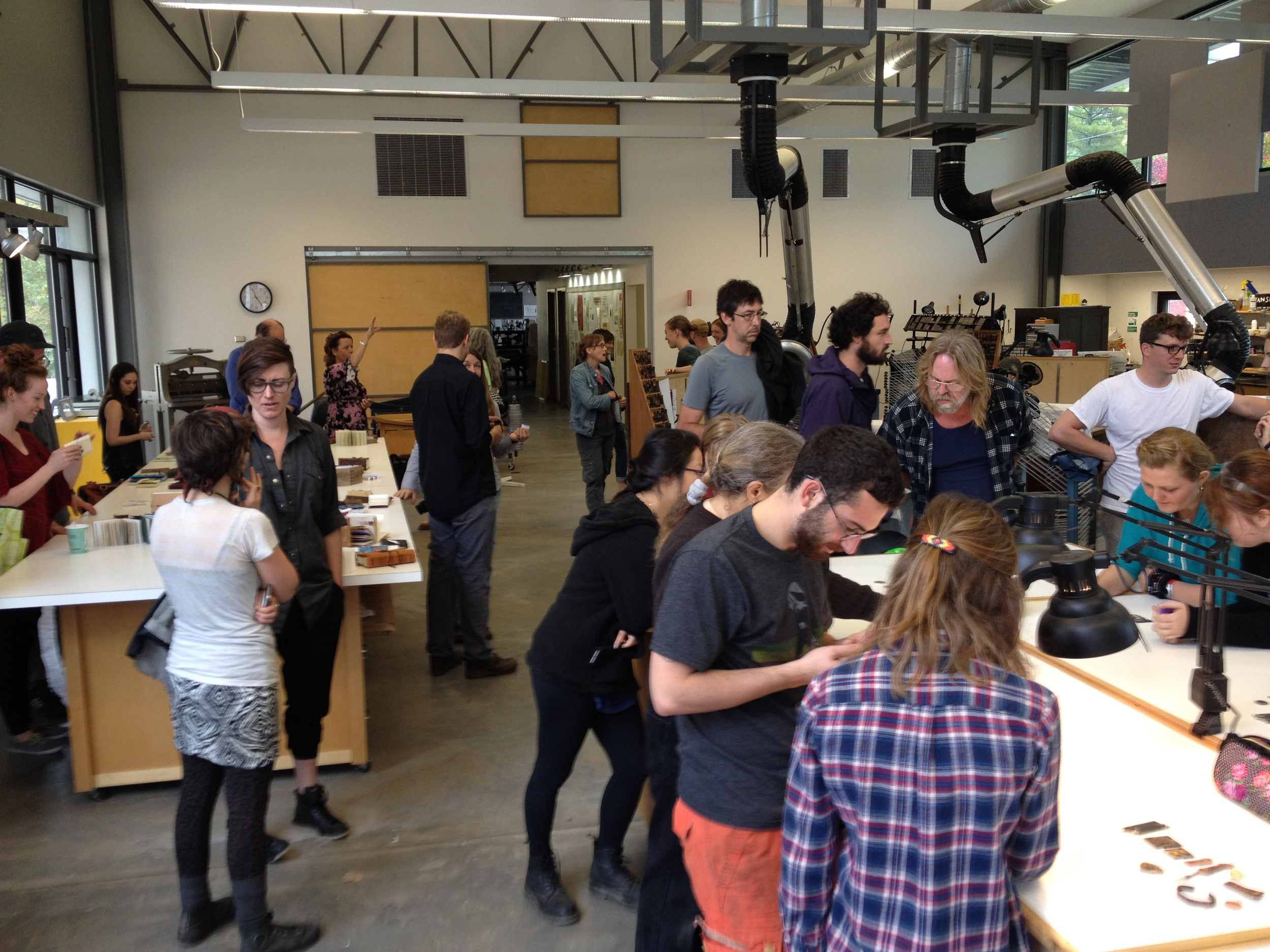 Our final show and tell took place in the gorgeous new printing studio.
